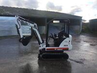 Bobcat 323 1.9 ton mini digger jcb tractor