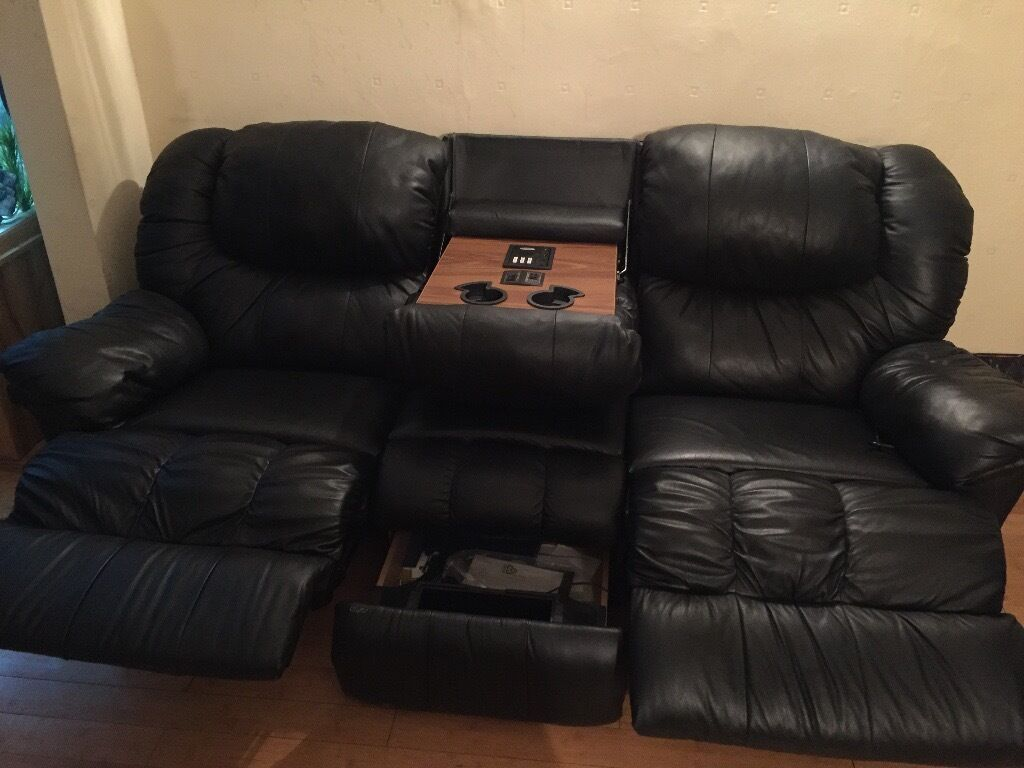 Leather Sofa With Recliner Built In Natuzzi Editions A319