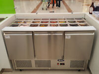 Atosa 3 door Saladette / Toppings Counter