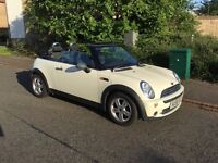MINI ONE WHITE CONVERTIBLE, 58 PLATE, 49500 MILES, FULL SERVICE HISTORY, 12 MONTHS MOT