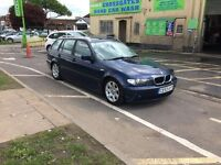 BMW 320d se touring diesel estate, ideal work car or cheap run about long mot 6 speed Manuel