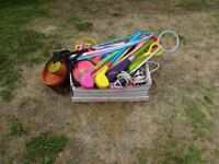 Large box of outdoor toys