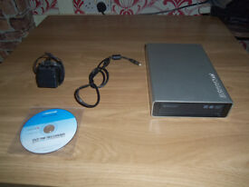 freecom write master dvd rw external cd burner drive comes with mains lead also usb lead
