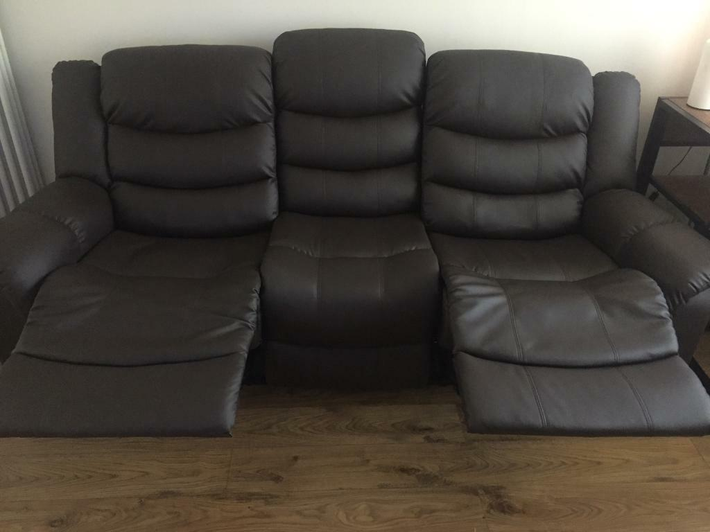 3 seater recliner sofa with heat and massage