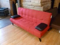 New Red And Black Sofa Bed (free local delivery)