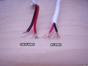 22 AWG Black Red Wire Copper Cores Insulated Cable White 9 ft. High Quality!