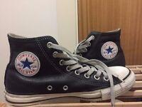 Converse All Star Hi Leather Black Size UK 7