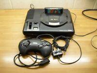 Sega Mega Drive With Original Poster