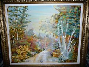 "Regina Hayward, Original Oil Painting ""Autumn Path"" Stratford Kitchener Area image 1"