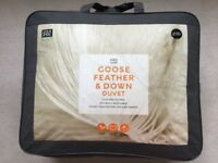 M&S Goose Feather & Down King Size Duvet - 13.5 tog