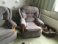 2 seater sofa and single armchair