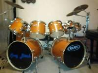 Mapex M Birch 9 piece drum kit + hardware & cymbals