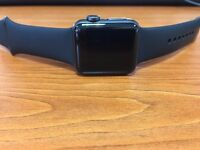 Apple Watch Series 2 38mm Space Grey Aluminium (Black Sport Band+ 4 Bands + Oittm charging station)