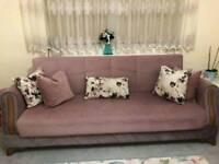 2 large Turkish sofa bed