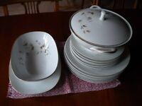 "Noritake ""Woodland"" Pattern China Dinner Plates and Bowls"