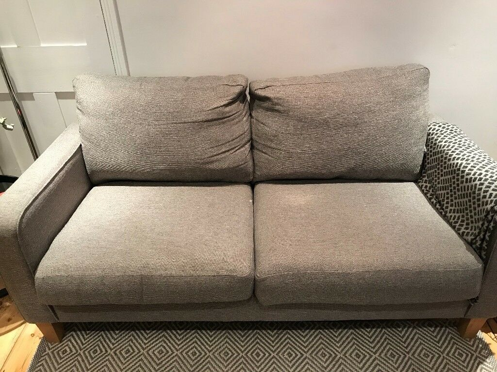 2/3 seater grey sofa
