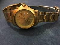 Seiko watch kinetic gold plated