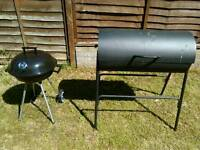2 Charcoal BBQ`s. Utensils. Covers. Good Condition. £35.