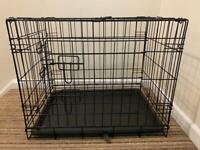 Puppy crate, puppy pads and pet carrier