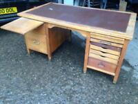 Partners oak desk