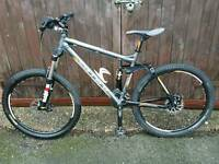 Carrera banshee full suspension mountain bike fully working and good condition 2015