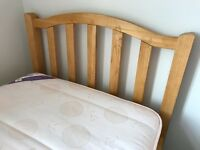 BARGAIN !! Single bed with 3 drawers - solid wood - original instructions include +mattress