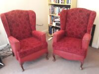 2 x Queen Anne style Armchairs for Refurbishment
