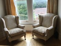 2 Wing back chairs- Laura Ashley