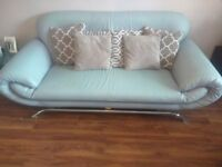 Immaculate sofa set: 3 seater, 2 seater and armchair