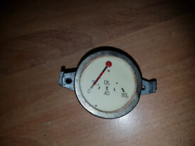 ANTIQUE Pressure Gauge Oil - 80 PSI CLASIC CAR