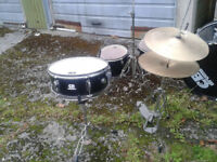 DRUM KIT--Black 5 peice -Complete With Stands And Cymbals