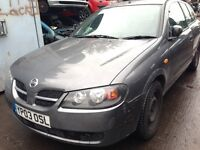 2003 Nissan Almera 1.5 S 5dr grey manual BREAKING FOR SPARES