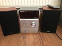 Panasonic CD/DAB radio player and speakers