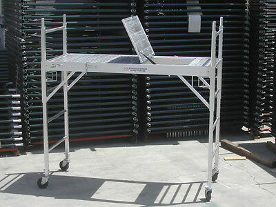 2 All Aluminum Scaffolding Rolling Tower With Aluminum Hatch Deck U Locks