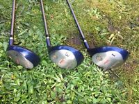 Wilson Pro Staff woods - set of 1, 3 & 5 plus covers - excellent condition
