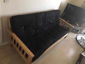 Wooden futon/ sofa bed,