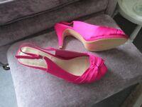 Fuchia shoes size 8