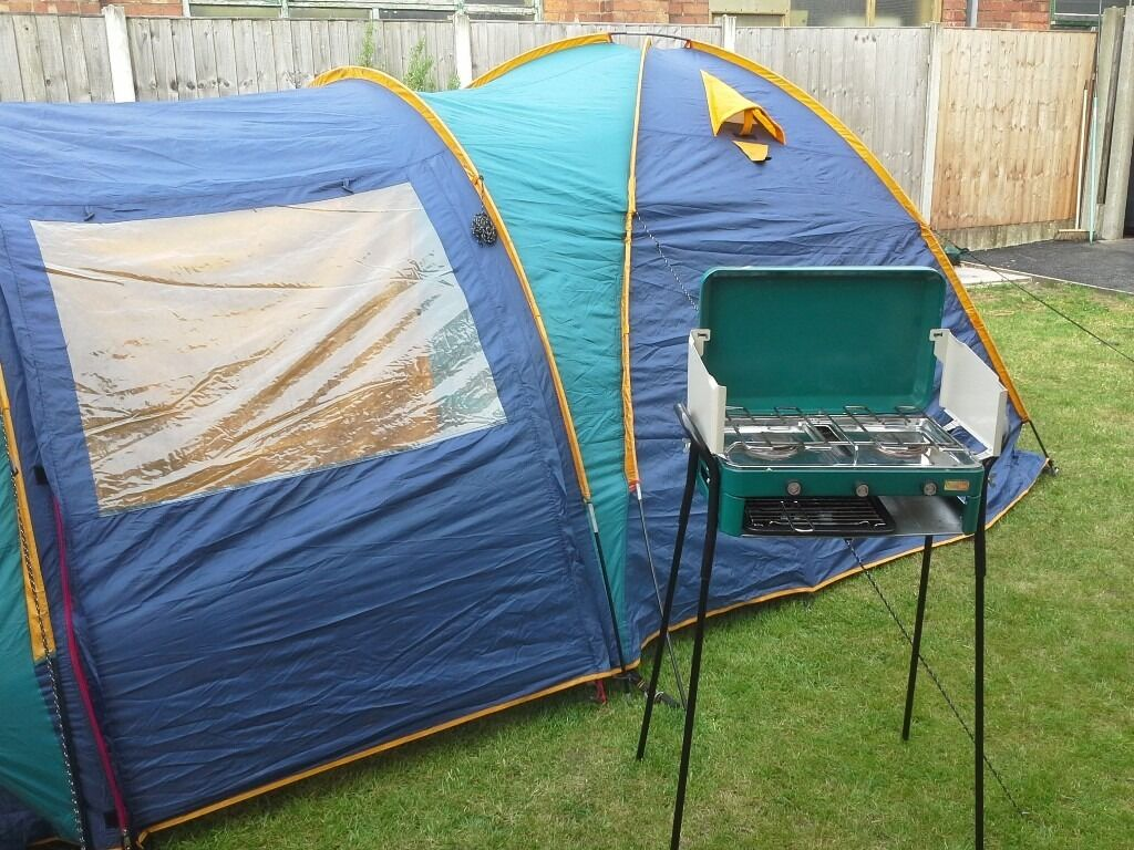Jaya 6 man tent with 2 sleeping compartments easy put up comes with cooker  and grill bargin £60  00 | in Lytham St Annes, Lancashire | Gumtree