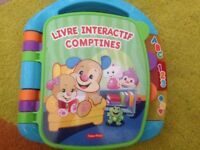 FRENCH FISHER PRICE INTERACTIV STORY RHYMES BOOK WITH LIGHTS MUSIC / LIVRE INTERACTIV COMPTINES