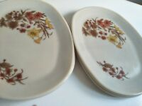 6 PYREX OVAL DINNER PLATES FOR SALE