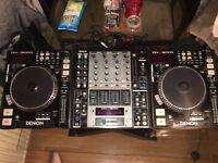 DJ Decks Complete Setup DN-S5000 x 2 and DN-X1500