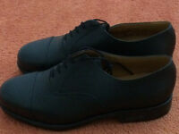 RAF brand new men's black leather brogues with reinforced toe cap size 10 1/2 - welcome to try them