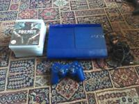 Blue Sony PS3 SuperSlim 500gb