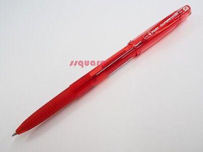 12 X Pilot Super Grip G Bps-gg 0.7mm Fine Ballpoint Pen W Cap Red
