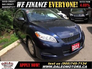 2011 Toyota Matrix LOW BI-WEEKLY PAYMENTS| CERTIFIED