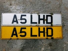 A5 LHD personalised number plate ideal for audi american car left hooker kit car