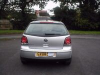 VW POLO 1.2 Silver, Full service history, low mileage