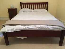 John Lewis double bed and mattress