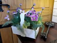 Pretty spring basket table decoration