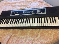 Yamaha YPT-210 keyboard, tiger stand & stool